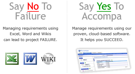 Excel, Word and wikis can lead to project FAILURE. Click to learn why & how to SUCCEED.
